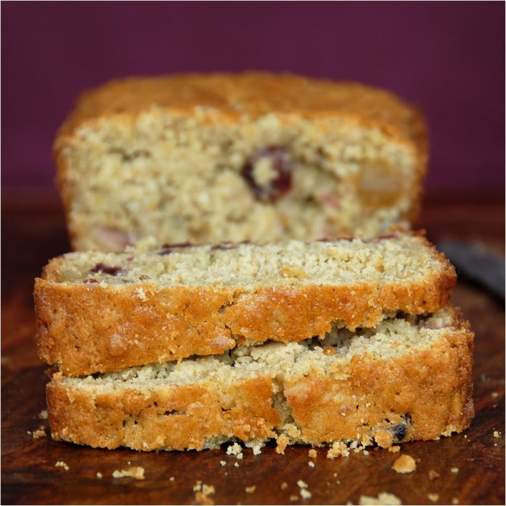 Cranberry Cardamom Tea Bread