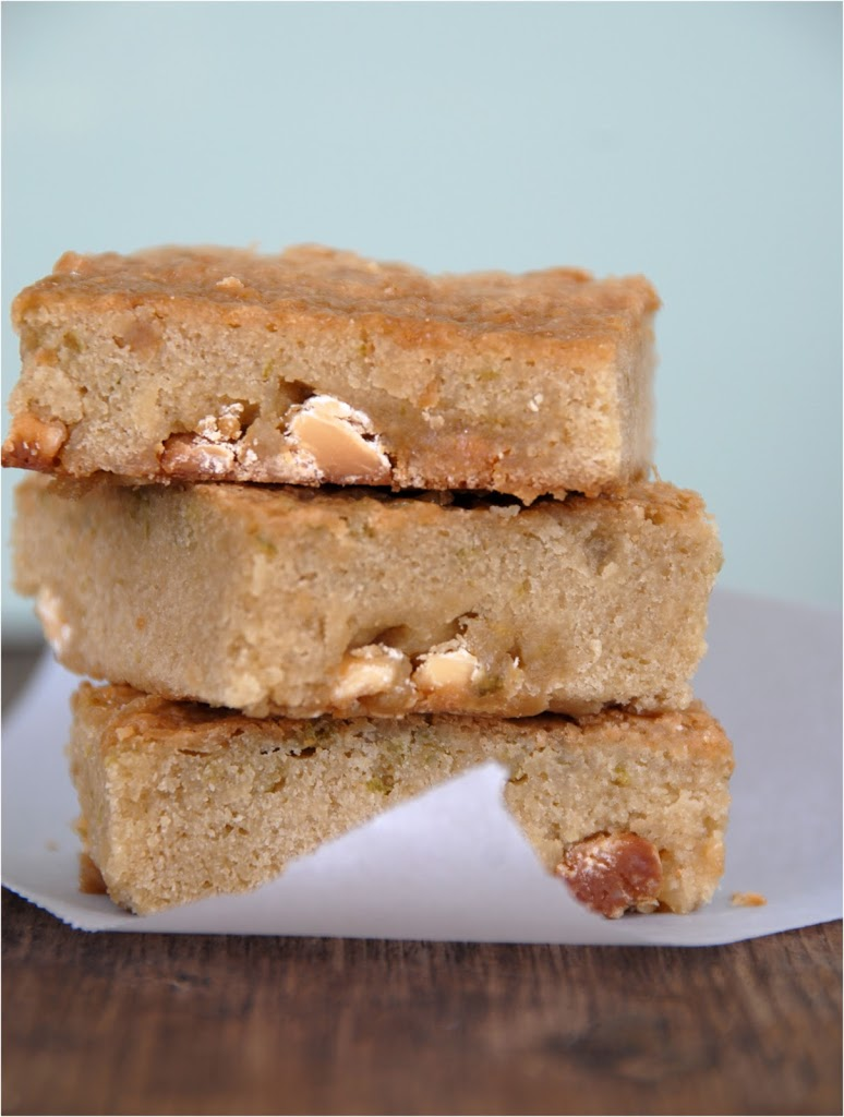 White Chocolate & Lime Blondies