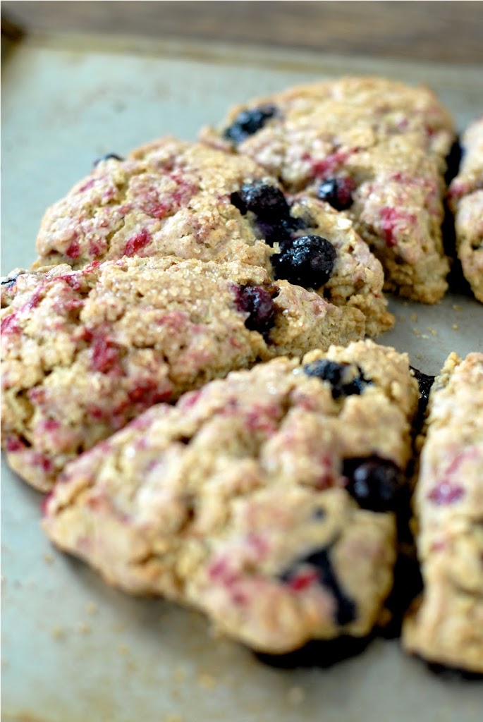 Berry Oat Scones