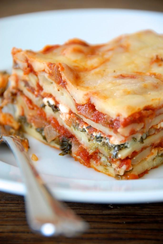 {gluten-free} vegetable lasagna | @kumquatblog kumquatblog.com
