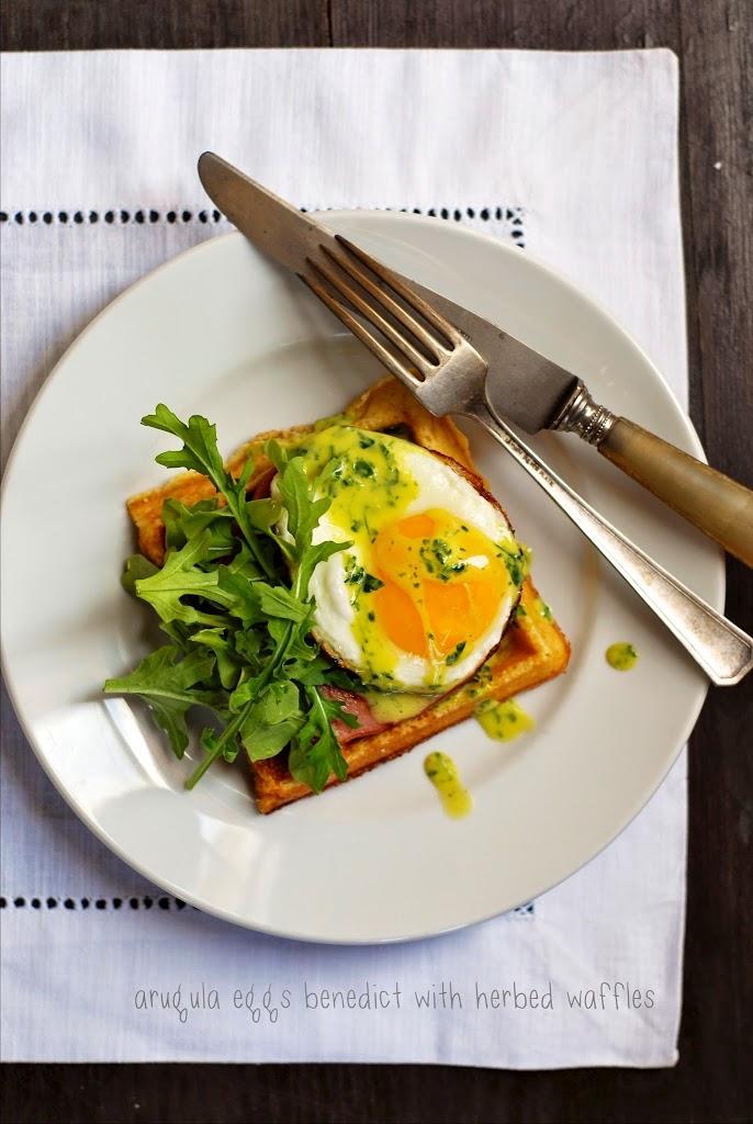 eggs-benedict-herbed-waffles