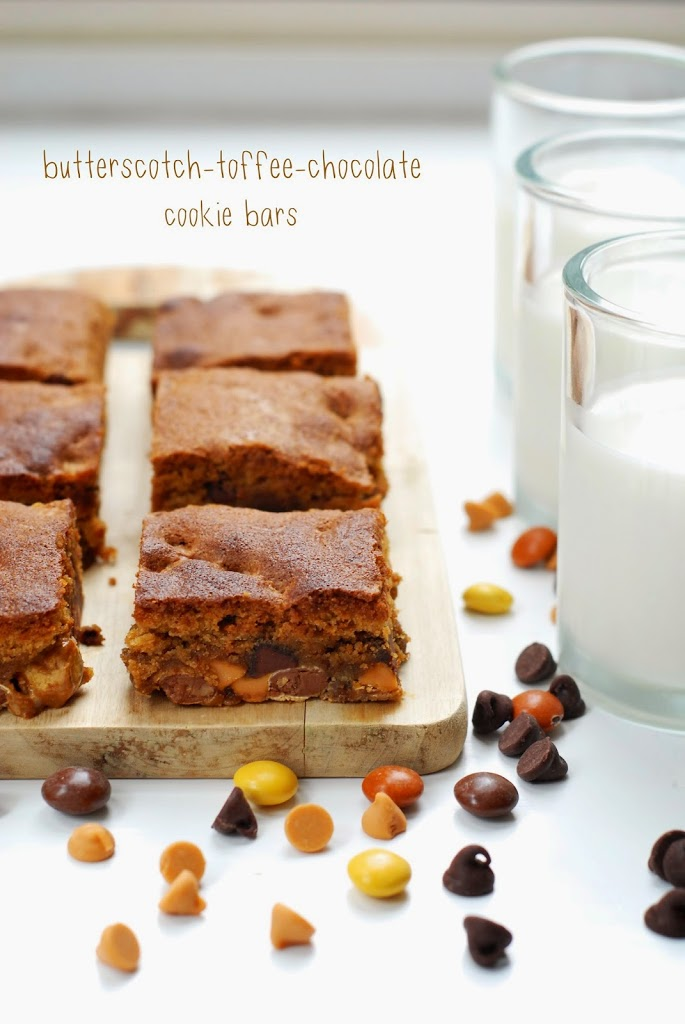 Chocolate Butterscotch Cookie Bars Recipe — Dishmaps
