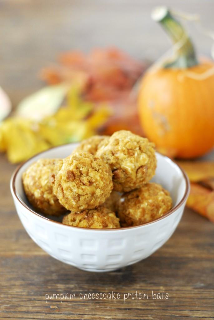 pumpkin cheesecake protein balls 1