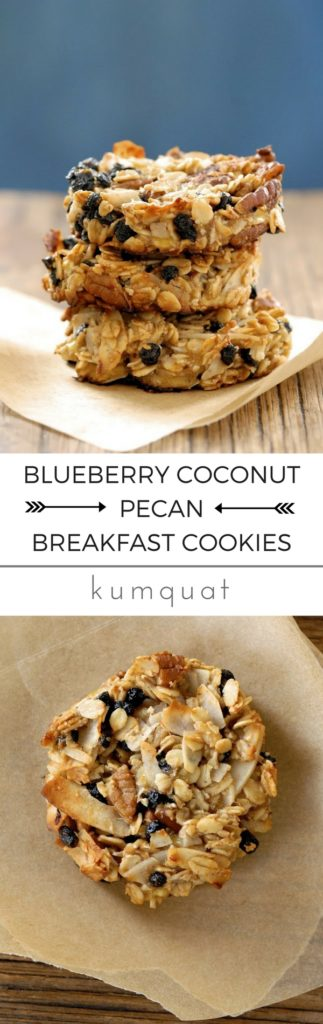 gluten-free blueberry coconut pecan breakfast cookies... the easy way to start the school day | @kumquatblog · visit kumquatblog.com for more exclusively gluten-free recipes ·