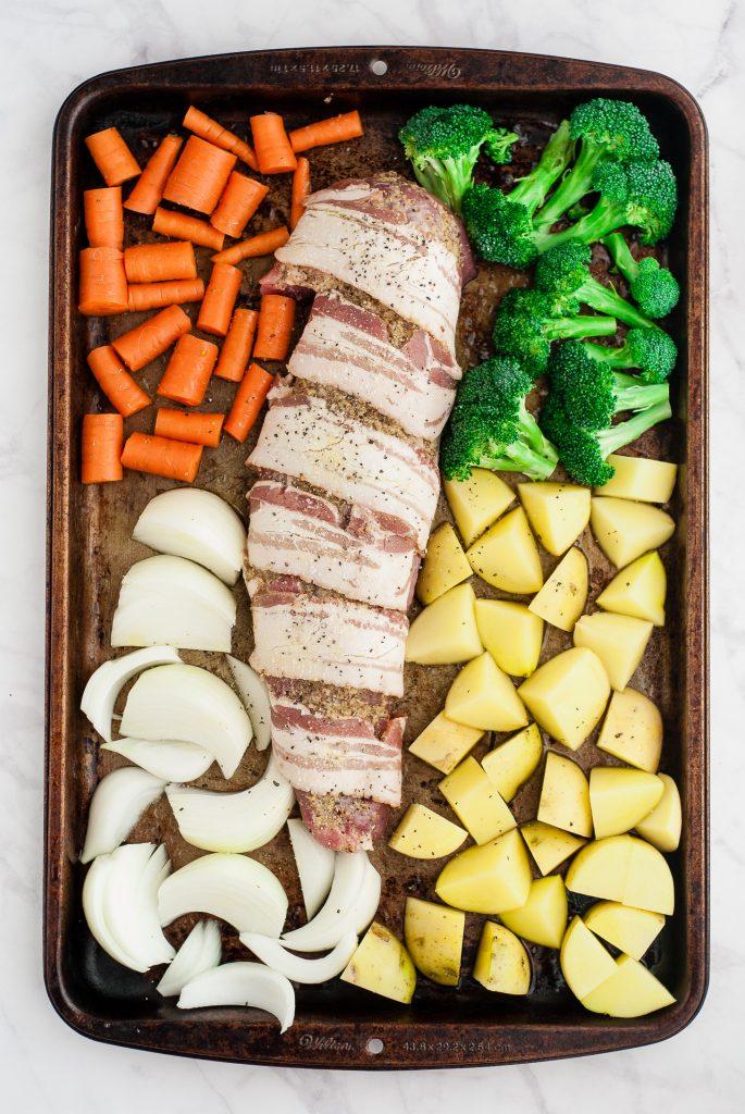 Easy Fall One-Pan Pork Dinner | kumquatblog.com @kumquatblog recipe