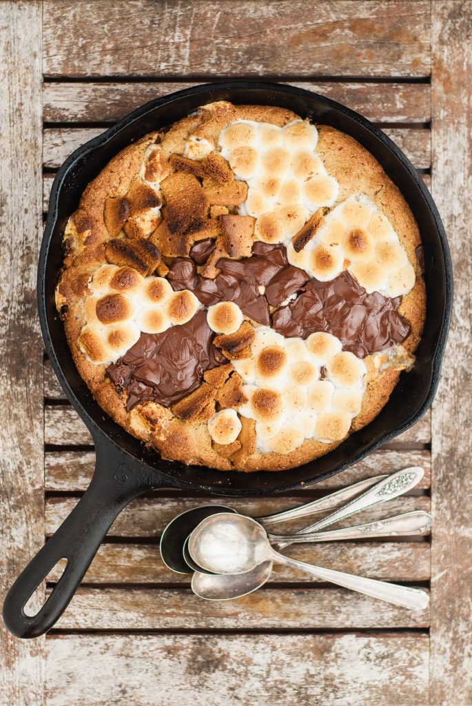 Gluten-Free S'mores Skillet Cookie