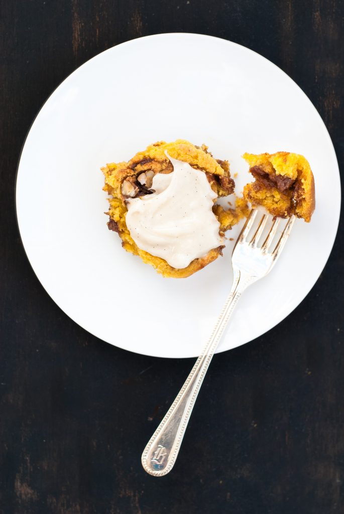 incredible grain-free pumpkin cinnamon rolls | kumquatblog.com @kumquatblog recipe