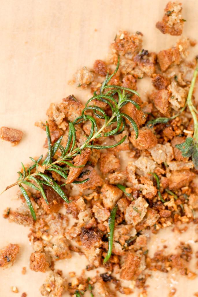 gluten-free garlic-herbed breadcrumbs   kumquat