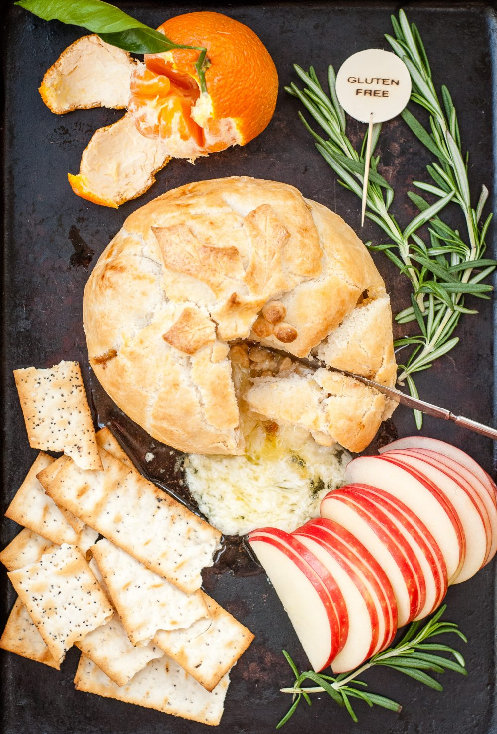 Grain-Free Brie En Croute with Fig and Marcona Almonds