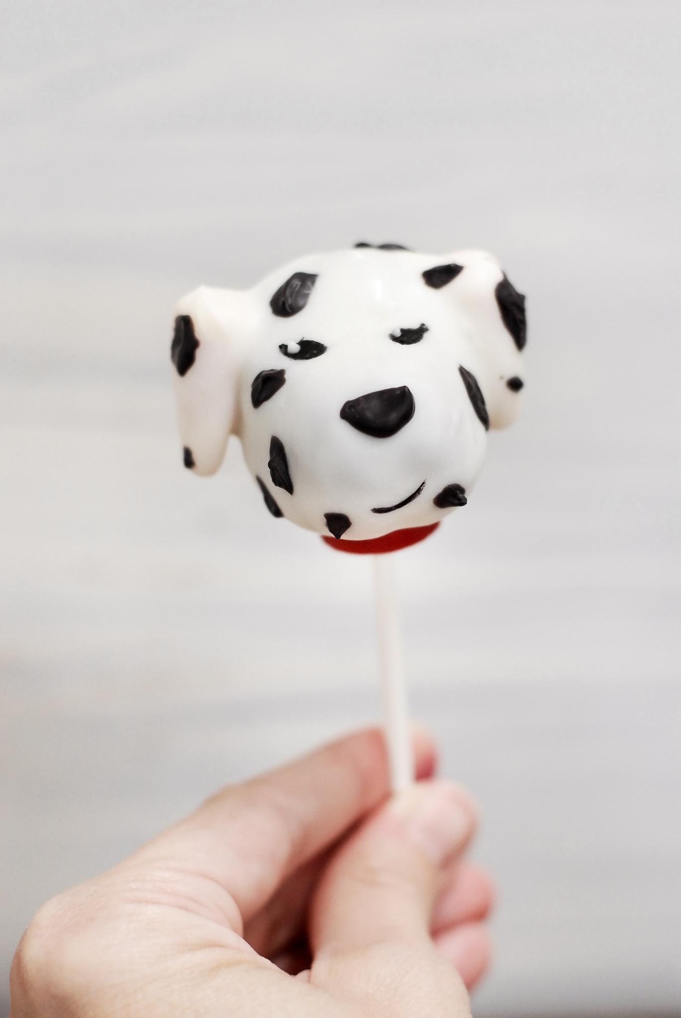 Dalmatian Cake Pops