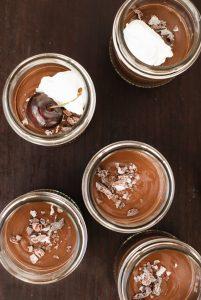 Salted Dark Chocolate Pots De Creme | kumquatblog.com @kumquatblog recipe