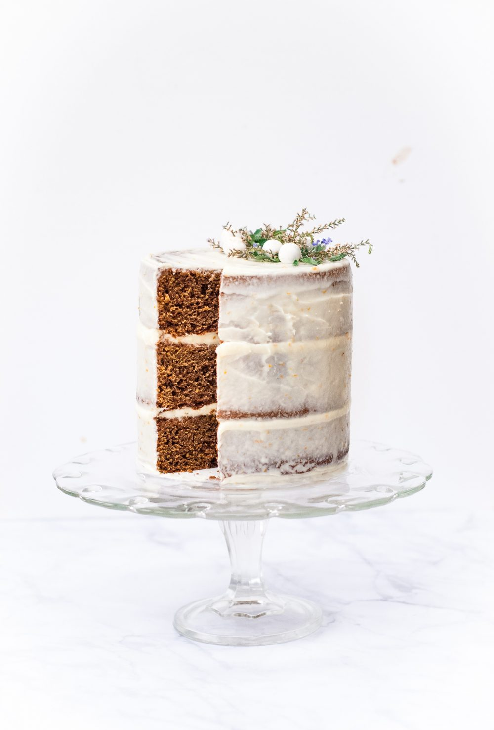 Grain-Free Gingerbread Cake with Tangerine-Cream Cheese Frosting | kumquatblog.com @kumquatblog recipe