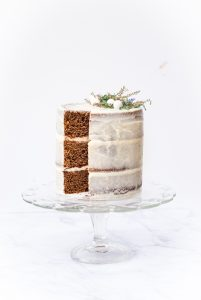 Grain-Free Gingerbread Cake with Tangerine-Cream Cheese Frosting | kumquatblog.com @kumquatblog recipe