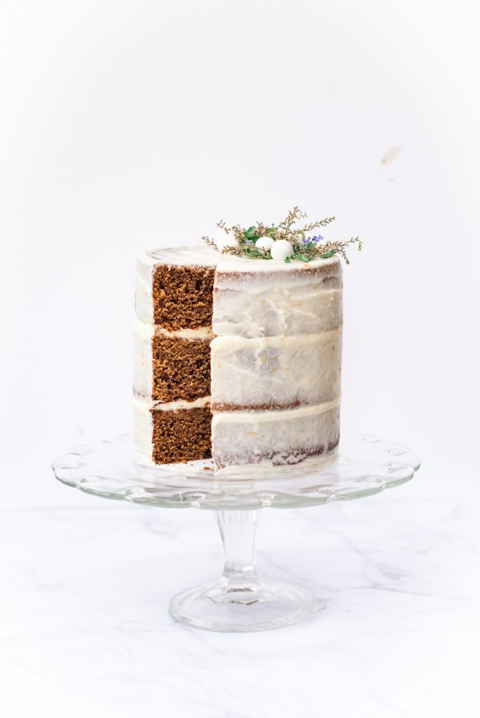 Grain-Free Gingerbread Cake with Tangerine-Cream Cheese Frosting