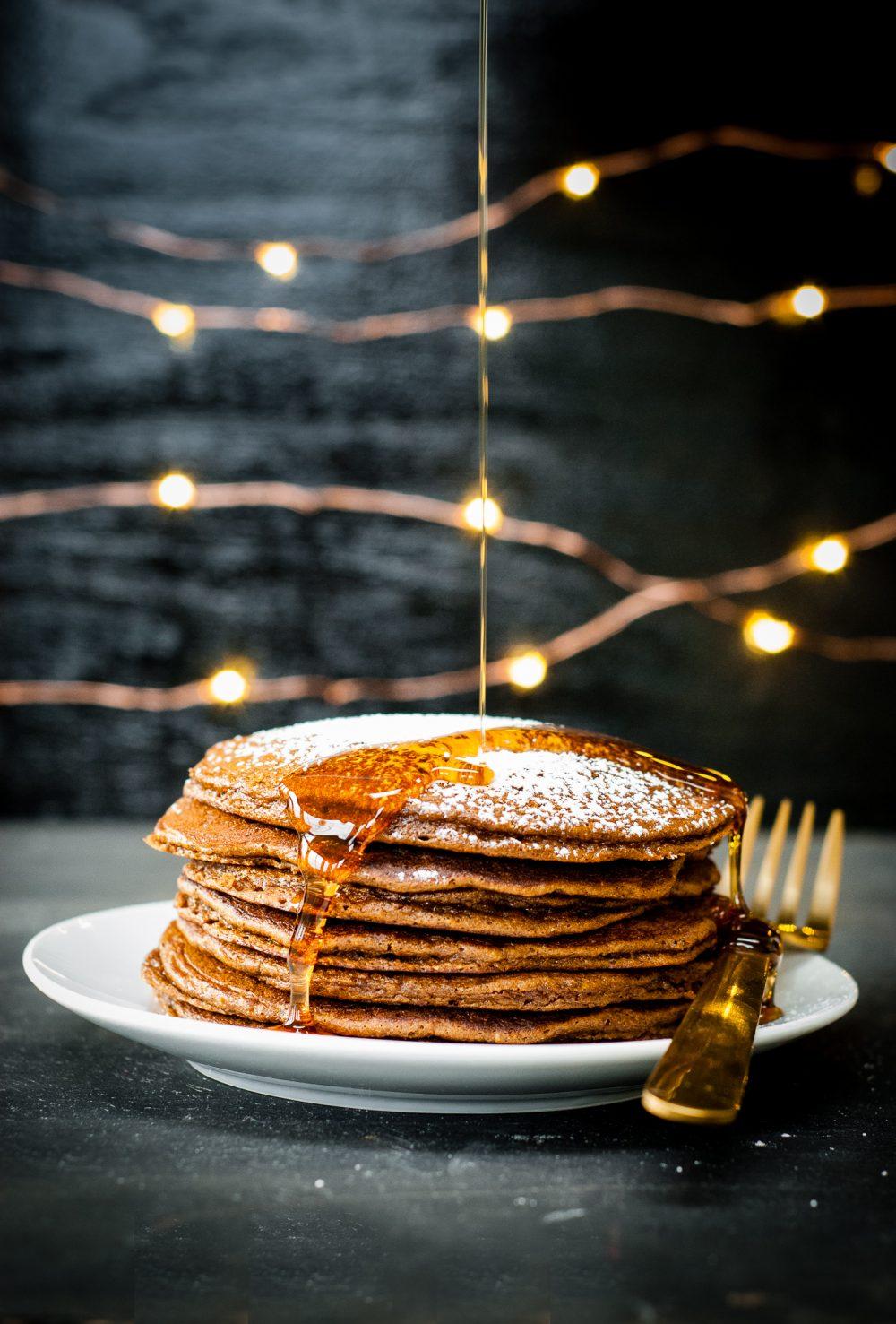 perfect grain-free gingerbread pancakes | kumquatblog.com @kumquatblog recipe