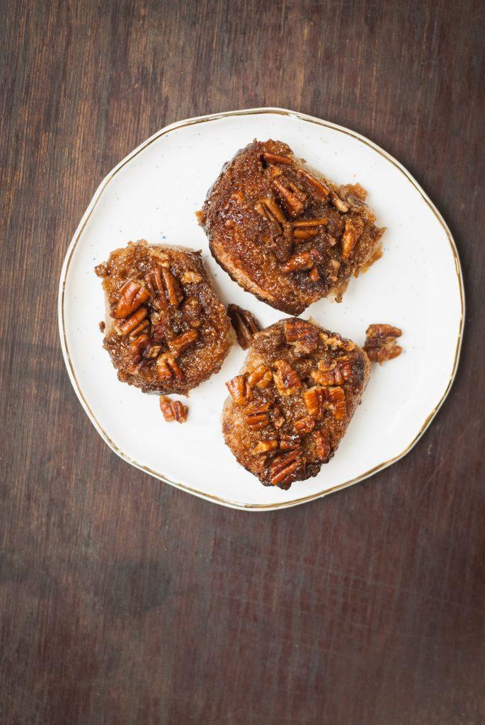 Grain-Free Banana Bread Pecan Sticky Buns | kumquatblog.com @kumquatblog recipe