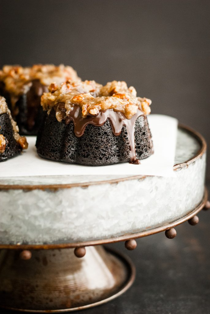 Grain-Free German Chocolate Bundt Cakes