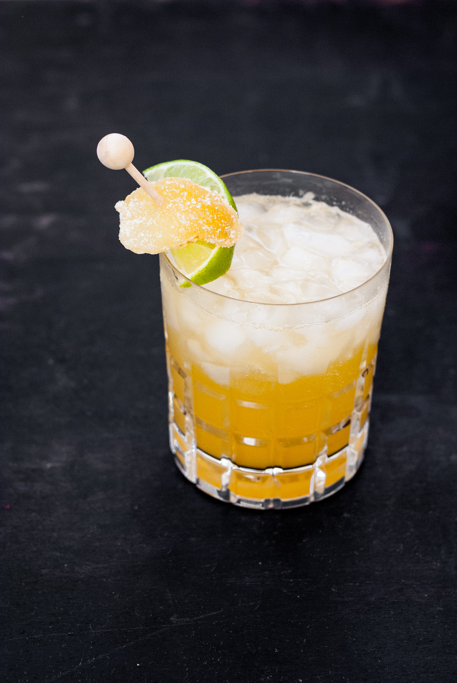 Honey Ginger Rum Peach Cocktail