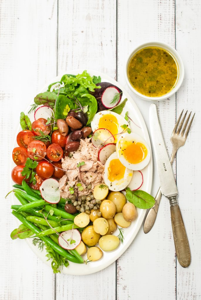 French Salad Niçoise with Lemon-Dill Dressing