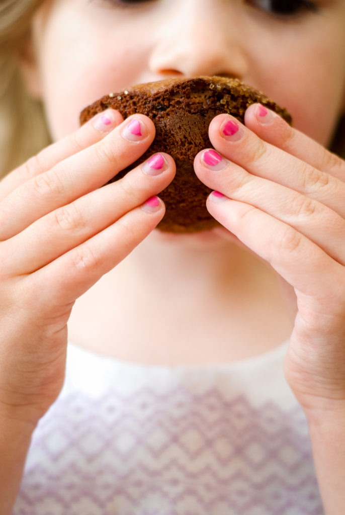 Grain-Free Double Chocolate Viennese Coffee Muffins | kumquatblog.com @kumquatblog