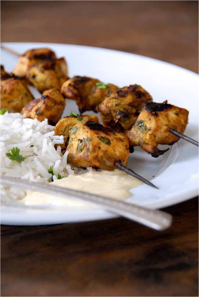 Grilled Tandoori Chicken Skewers | kumquatblog.com @kumquatblog