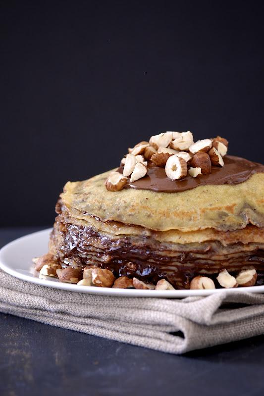 {gluten-free} Nutella Crepe Cake | kumquatblog.com @kumquatblog