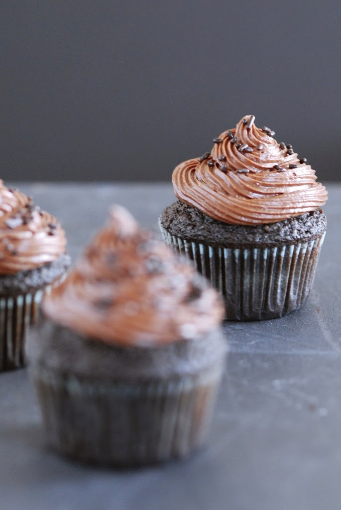 Gluten-Free Chocolate-Espresso Cupcakes | kumquatblog.com @kumquatblog recipe