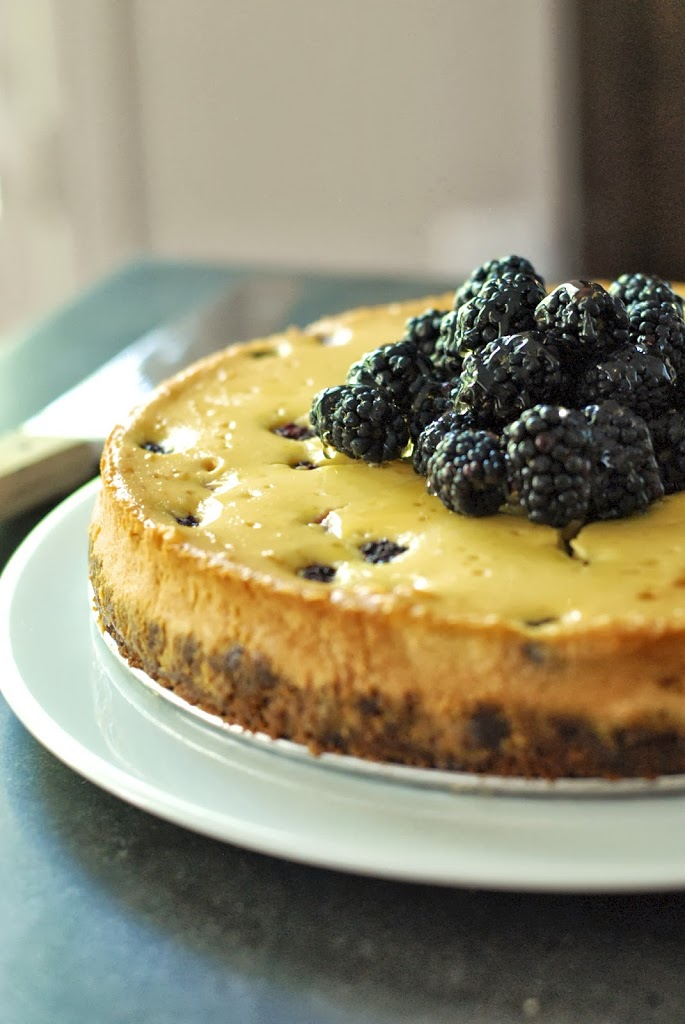 Gluten-Free Honey & Blackberry Cheesecake with Gingersnap ...