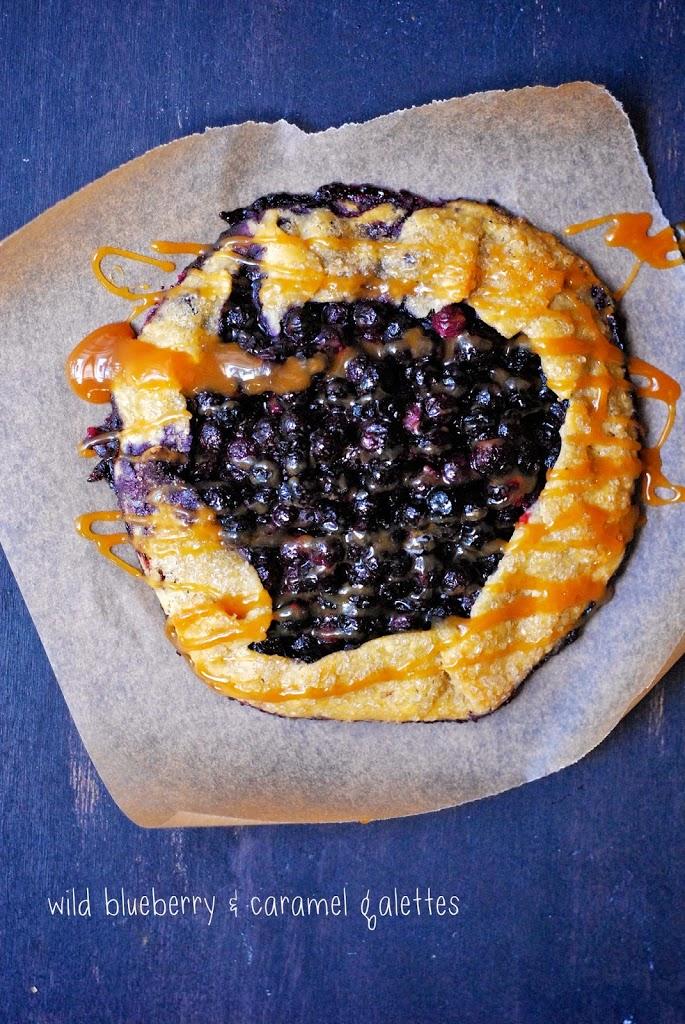 Gluten-Free Wild Blueberry & Caramel Galettes | kumquatblog.com @kumquatblog recipe