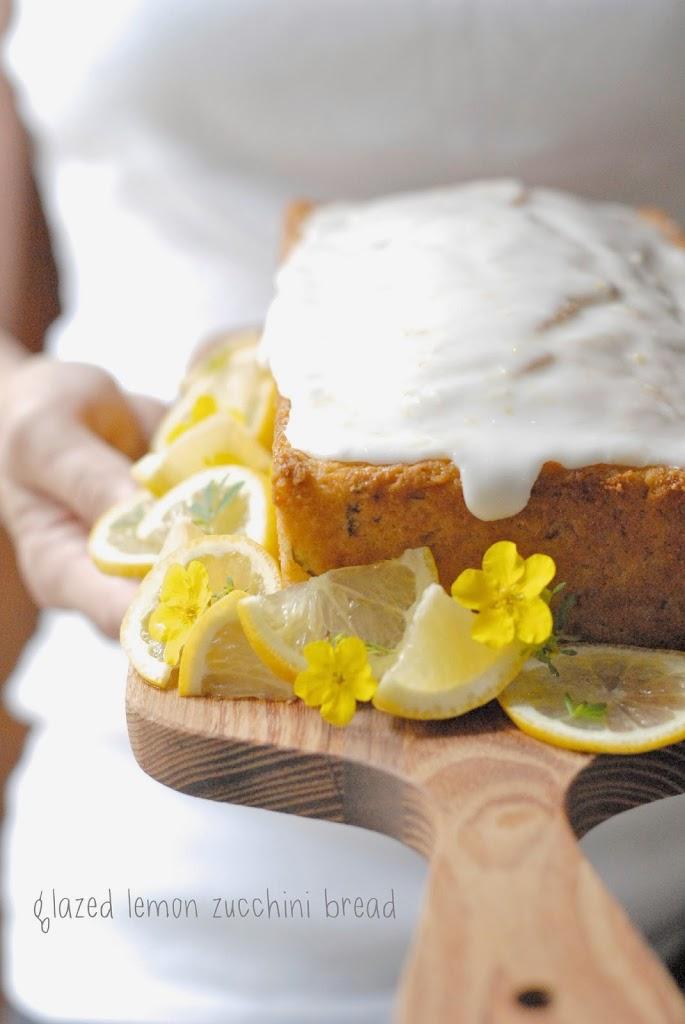 (gluten-free) glazed lemon zucchini bread | kumquatblog.com @kumquatblog
