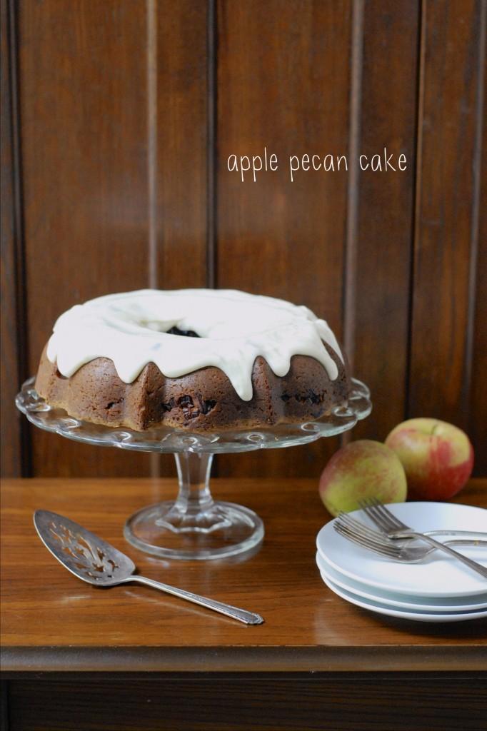 gluten free apple pecan cake 1