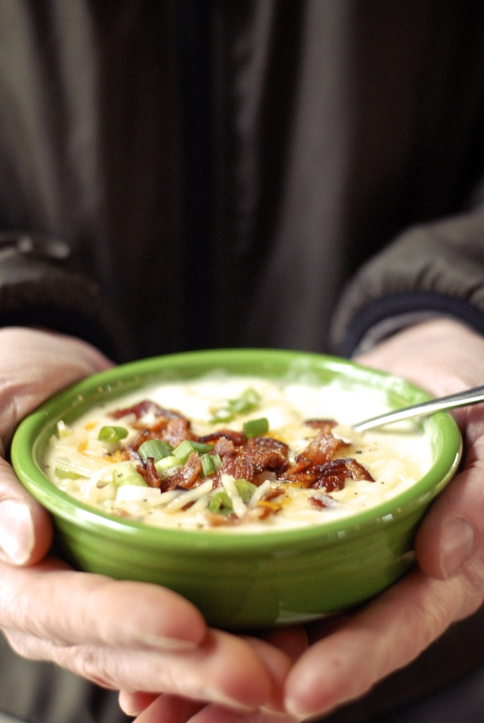 gluten-free loaded potato soup | kumquat