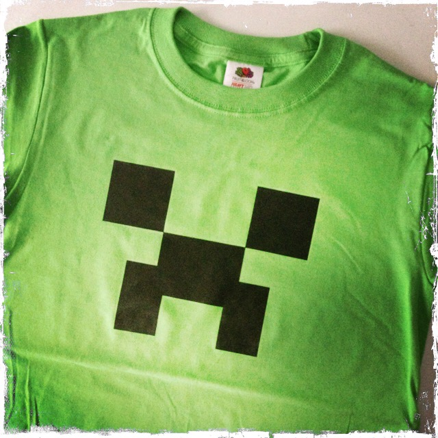 minecraft creeper t-shirt | kumquat