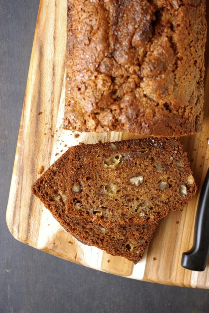 gluten-free favorite pecan-banana bread | kumquat