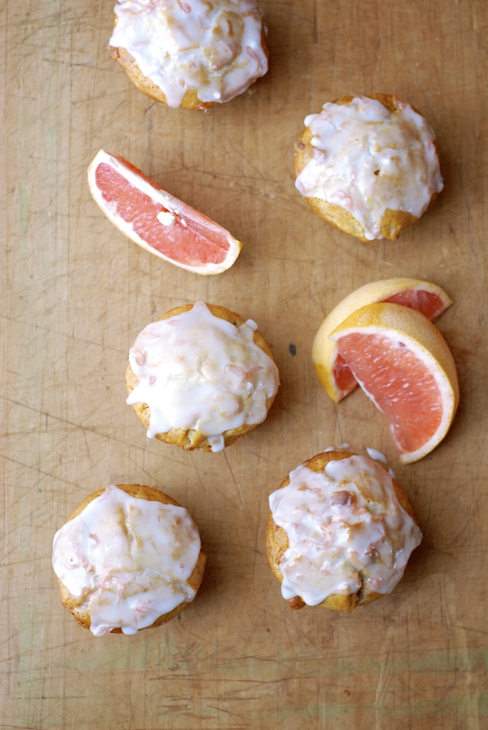 gluten-free white chocolate pecan grapefruit muffins | kumquat