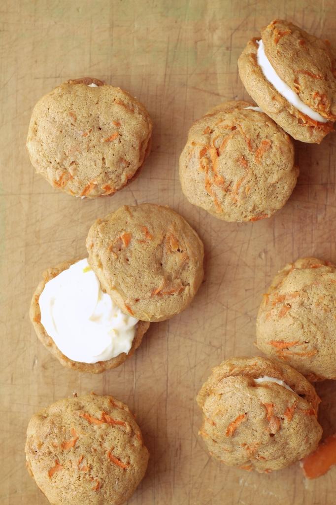 gluten-free carrot cake whoopee pies with honey-orange cream cheese icing | kumquat