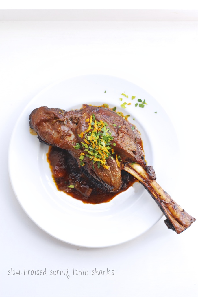 slow braised spring lamb shanks | kumquat
