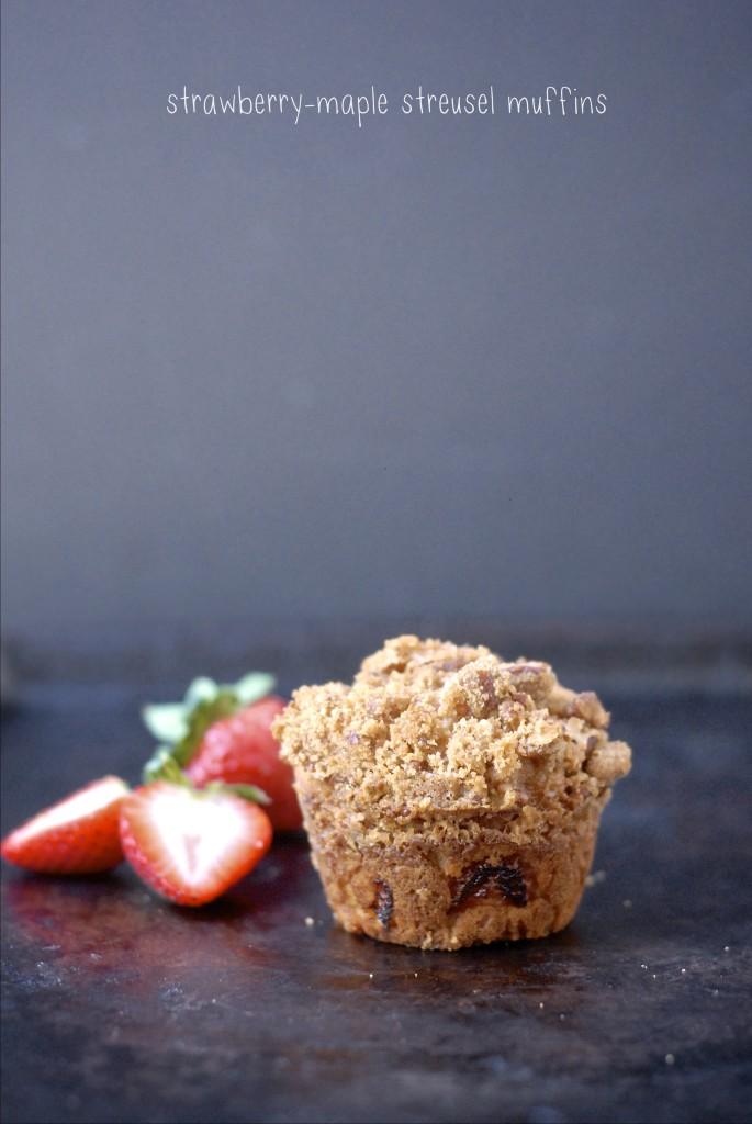 strawberry-maple streusel muffins   kumquat