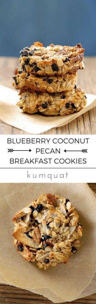 gluten-free blueberry coconut pecan breakfast cookies... the easy way to start the school day | @kumquatblog · visit kumquatblog.com for more exclusively gluten-free recipes ·
