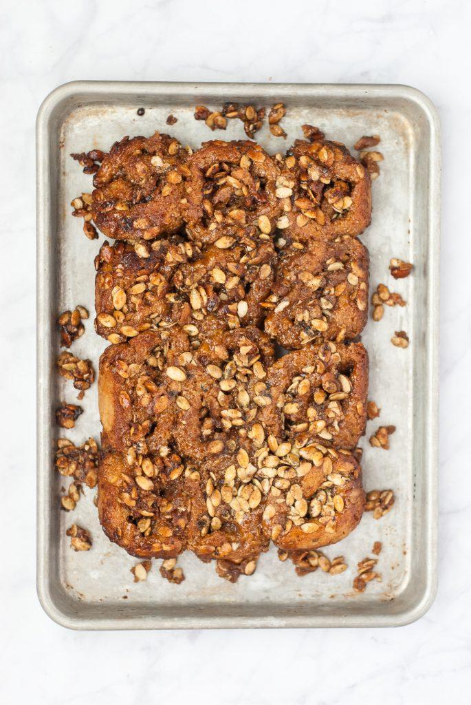 Grain-Free Pumpkin Sticky Buns | kumquatblog.com @kumquatblog