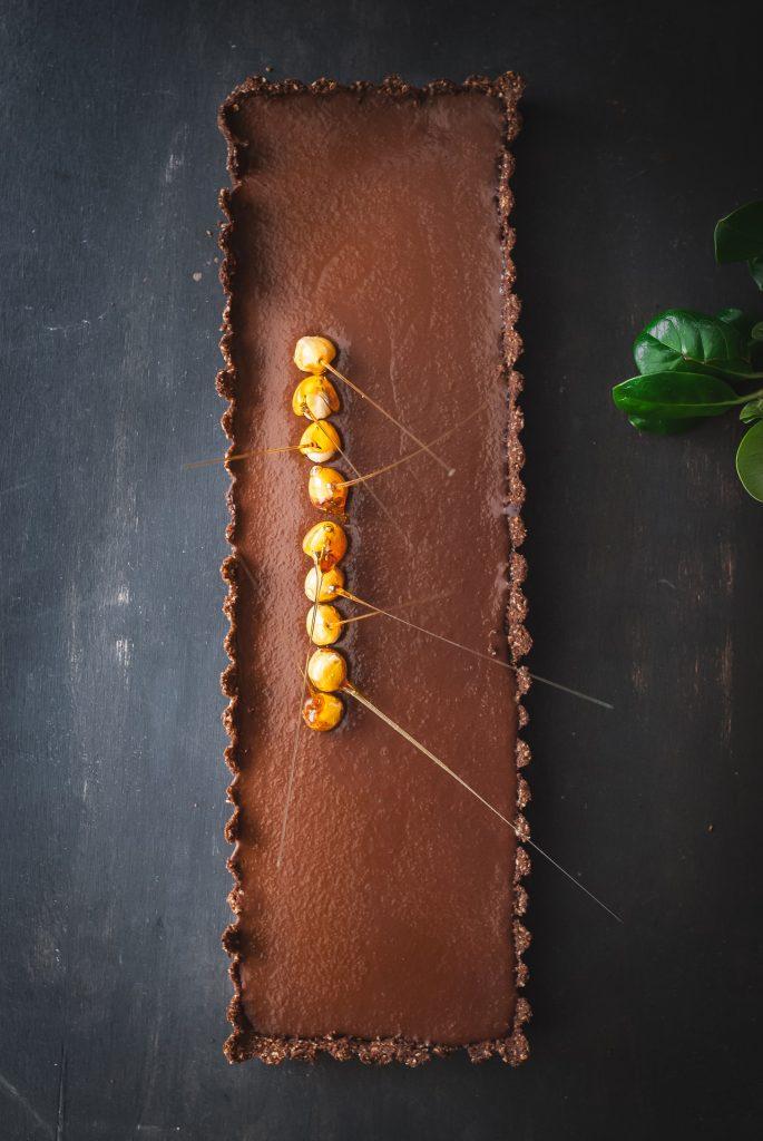 Grain-Free Chocolate Hazelnut Tart | kumquatblog.com @kumquatblog recipe