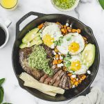 Steak and Eggs Skillet with Chimichurri and Sweet Potatoes