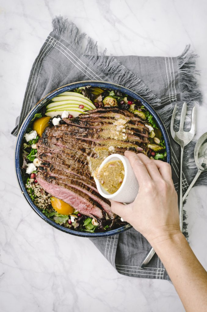 Fall Harvest Steak Salad Pour