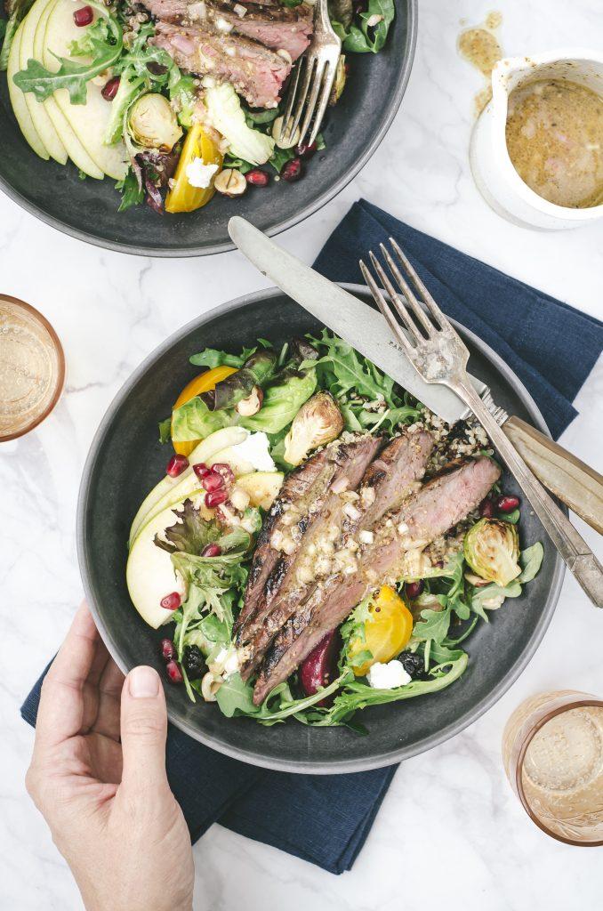 Fall Harvest Steak Salad Plate