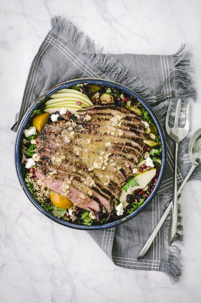 Fall Harvest Steak Salad