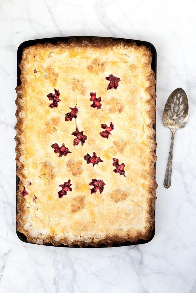 the best grain-free cranberry slab pie | kumquatblog.com @kumquatblog recipe