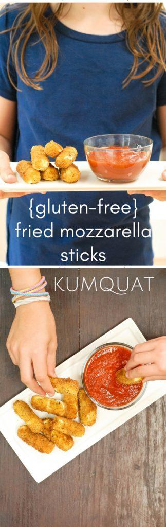 {gluten-free} fried mozzarella sticks | kumquatblog.com @kumquatblog
