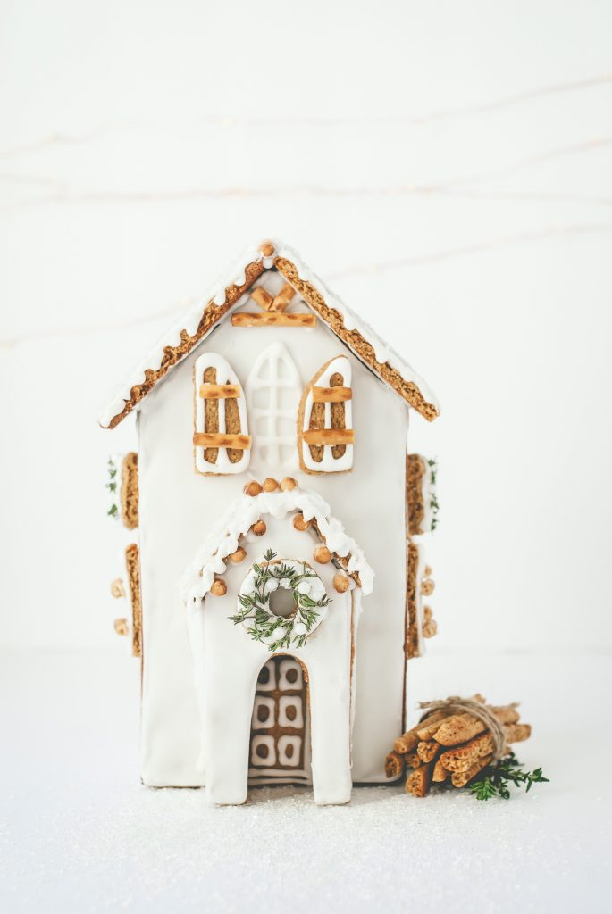 Grain-Free Gingerbread House | kumquatblog.com @kumquatblog recipe