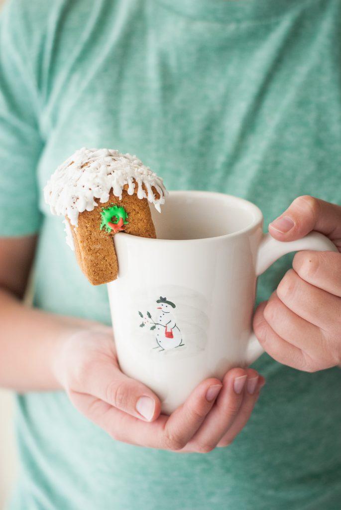 Grain Free Gingerbread House Mug Toppers