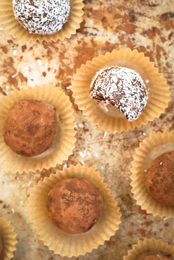 healthy dark chocolate truffles | kumquat